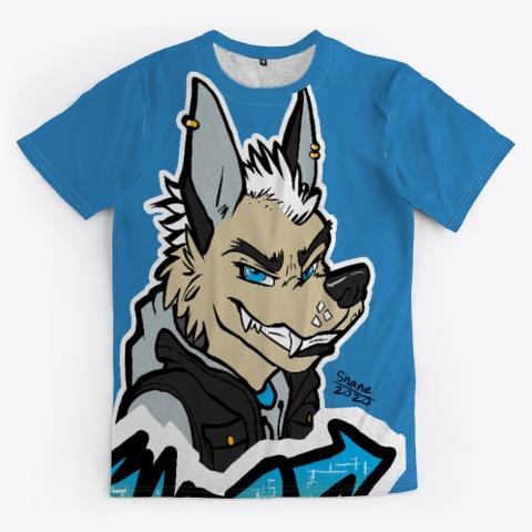 Wolf Denim Blue Maglietta Front