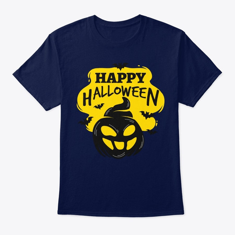 Happy Halloween T Shirts! Navy T-Shirt Front