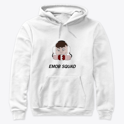Emob Squad White Sweatshirt Front