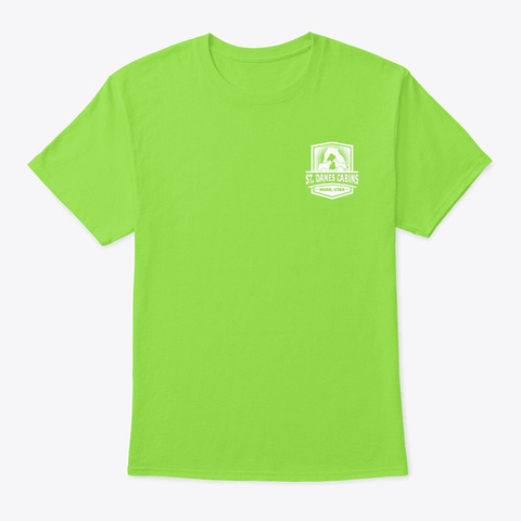 Trail Shirt  #2 Lime T-Shirt Front