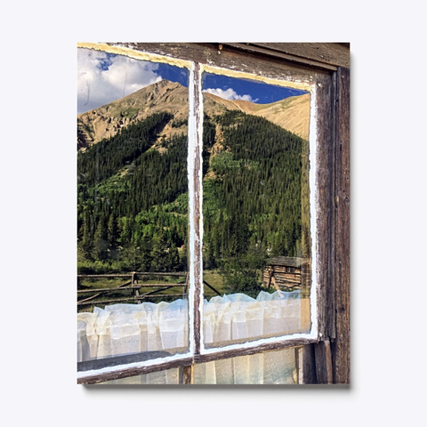 Colorado Mountain Reflection On Canvas Standard T-Shirt Front