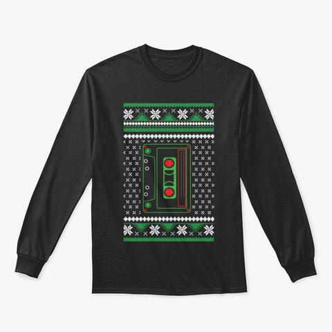 Retro 80s Shirts Christmas  Black T-Shirt Front