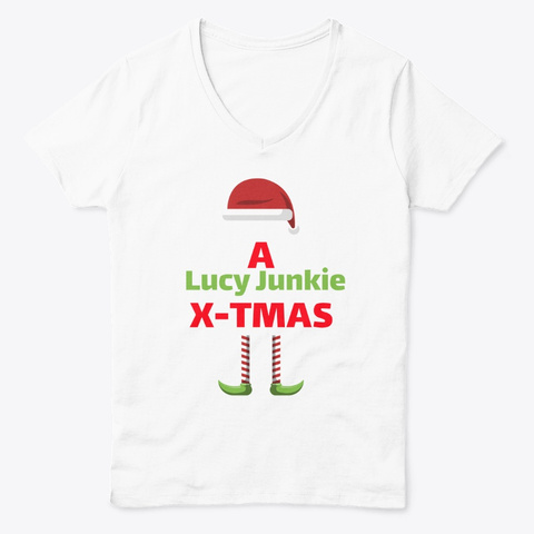 A Lucy Junkie X Tmas White  T-Shirt Front