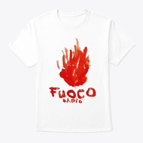 Burn Baby Burn White T-Shirt Front