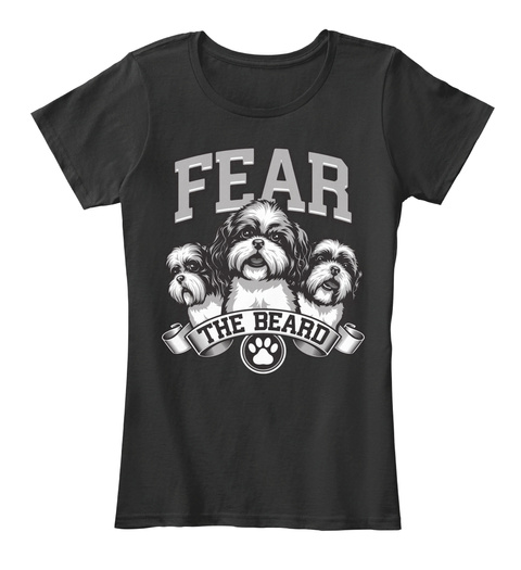 Fear The Beard  Black T-Shirt Front