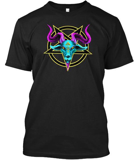 Baphomet T Shirt Black T-Shirt Front