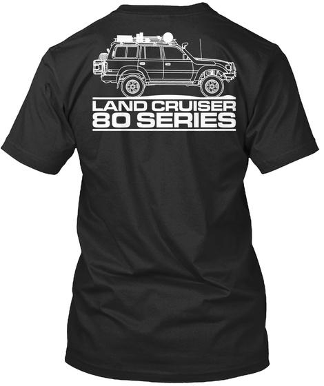 Land Cruiser 80 Series Black T-Shirt Back