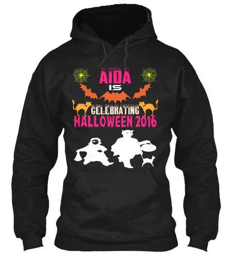 Aida Is Celebrating Halloween 2016 Black T-Shirt Front