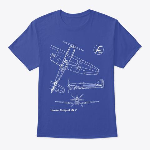 Blueprints   Tempest Mk V Deep Royal T-Shirt Front