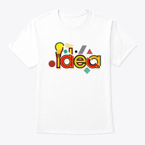 Idea Best T Shirt White T-Shirt Front