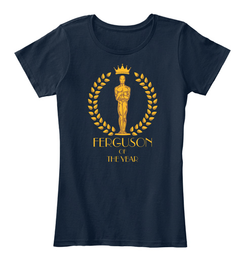 Ferguson Of The Year New Navy T-Shirt Front