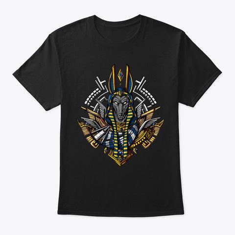 Egyptian God Anubis Black T-Shirt Front