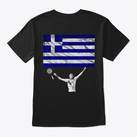 Stefanos Tsitsipas Black T-Shirt Back