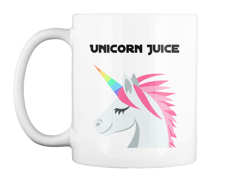 Unicorn Juice White T-Shirt Front