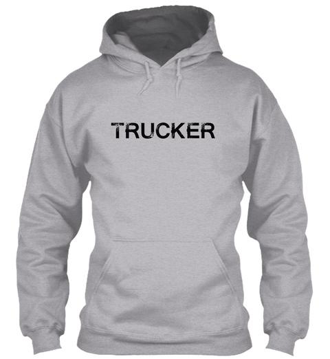 Trucker Sport Grey Sweatshirt Front