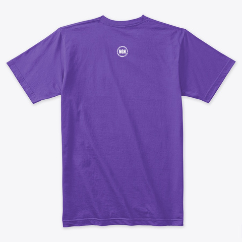 Life Begins At Confection   Mardi Gras Purple Rush T-Shirt Back