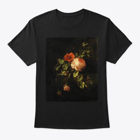 Flowers   7 Black T-Shirt Front