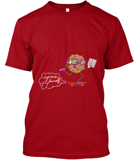 Introducing Cookies For A Cause Deep Red T-Shirt Front