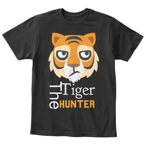 Tiger The Hunter Black T-Shirt Front