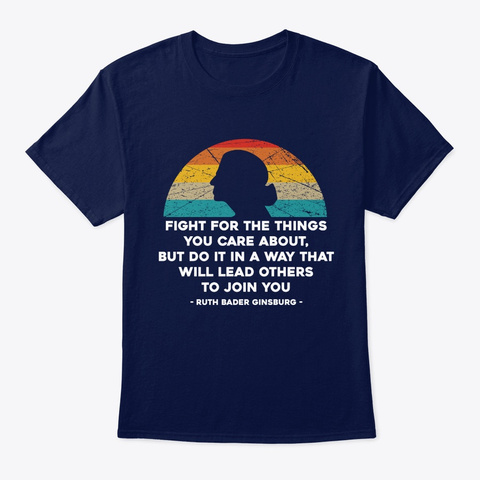 Fight For The Things You Care About Noto Navy T-Shirt Front