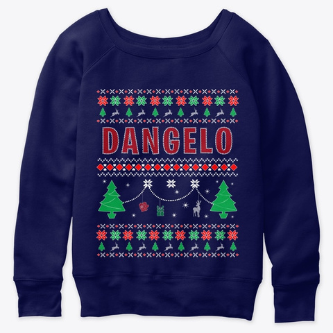 Ugly Christmas Themed Gift For Dangelo Navy  T-Shirt Front