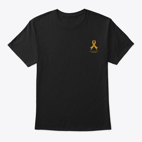 Childhood Cancer   170 Names (391223) Uk Black T-Shirt Front