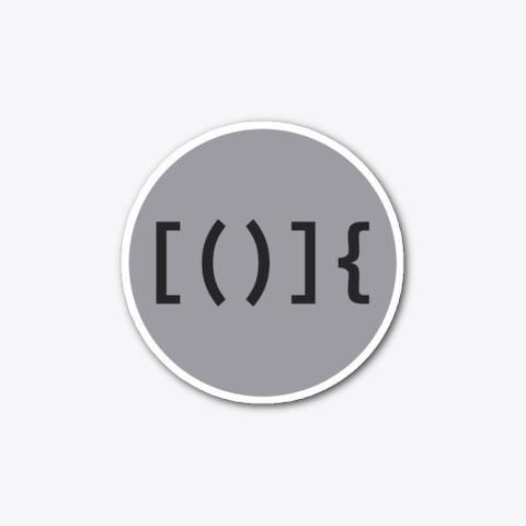 Code Brackets (Sticker) Standard T-Shirt Front