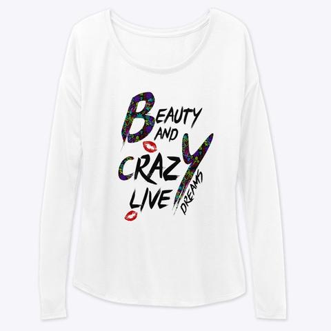 Long Leeve Tees White Long Sleeve T-Shirt Front
