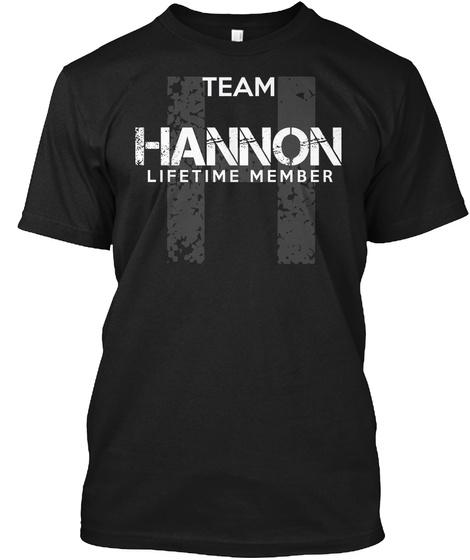 Team Hannon Lifetime Member T Shirt Black T-Shirt Front