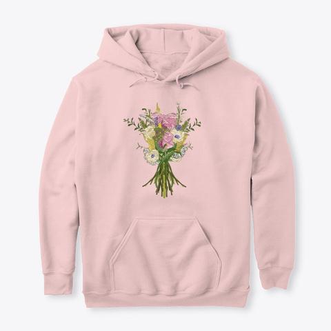 Botanical Flowers Gardening 2 Light Pink T-Shirt Front