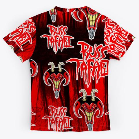 Russ Tafari All Over Print T Shirt Black T-Shirt Back