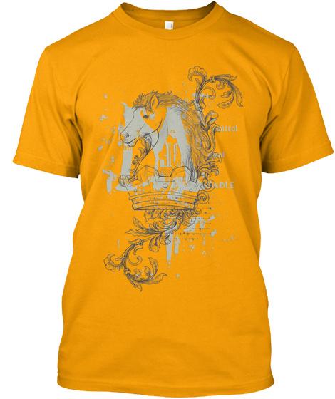 Horse High Art Gold T-Shirt Front