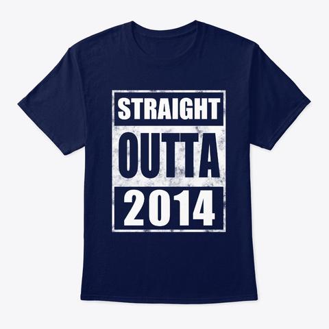 Straight Outta 2014 Kids T Shirt Navy T-Shirt Front
