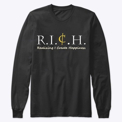 R.I.C.H. Black Long Sleeve T-Shirt Front