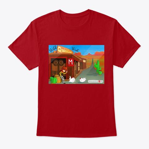 Giulia Sotto La Metro   Quintiliani (Uomo) Deep Red T-Shirt Front