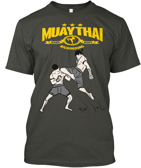Muaythai Hard Body Kickboxing Smoke Gray T-Shirt Front
