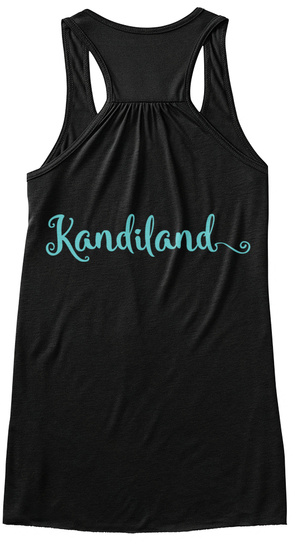 Kandiland Black T-Shirt Back
