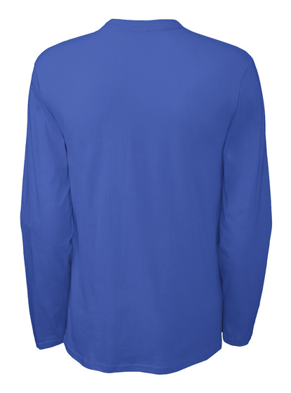 All I Want For Christmas Long Sleeved T Royal Blue T-Shirt Back