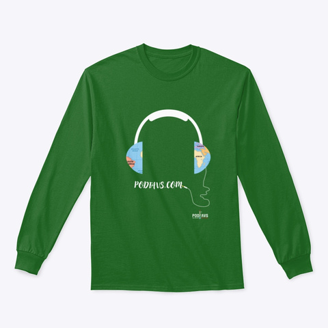 Connecting The World With Podcasts Irish Green T-Shirt Front
