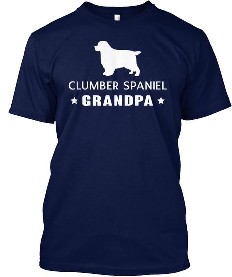 Clumber Spaniel Gift Shirt Navy T-Shirt Front