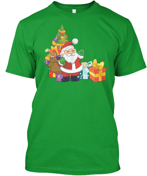 Midnight For Christmas T Shirt Kelly Green T-Shirt Front