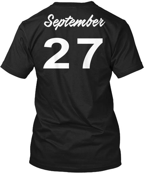 September 27   Libra Black T-Shirt Back