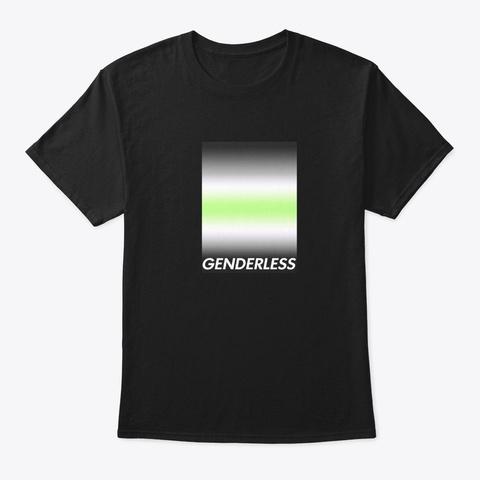 Agender Pride Lgbtq Genderless Gift Black T-Shirt Front