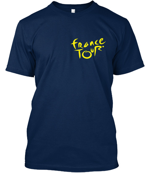 Tour De France T Shirts | Cycle T Shirts Navy T-Shirt Front