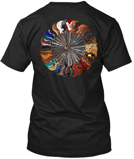 Virgil Guitars® 33 Guitars Circle Tee Black T-Shirt Back