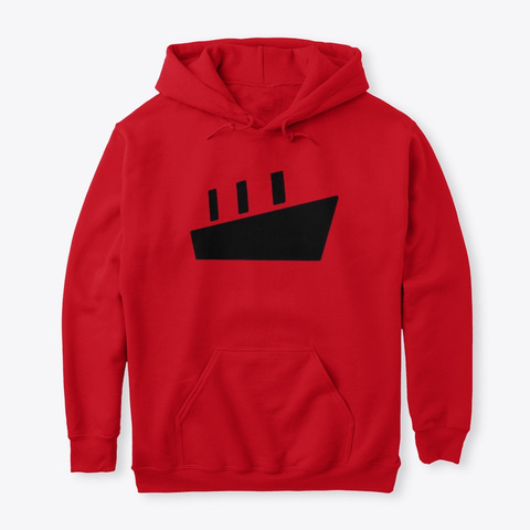 Ship Print Tshirt Red T-Shirt Front