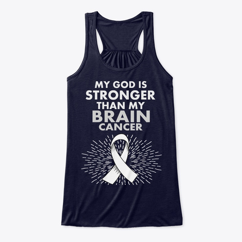 Brain Cancer Awareness Survivor Midnight T-Shirt Front