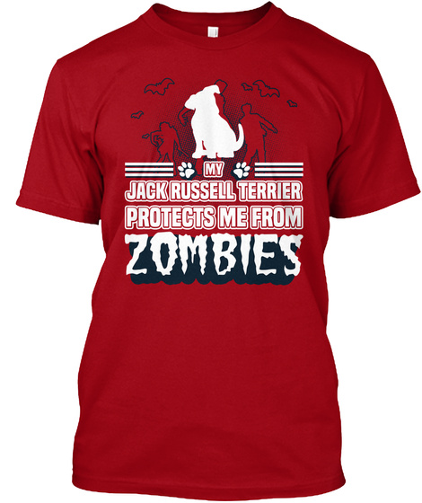 Jack Russell Terrier Deep Red T-Shirt Front