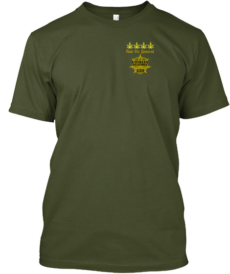 Four Oz. General Military Green T-Shirt Front