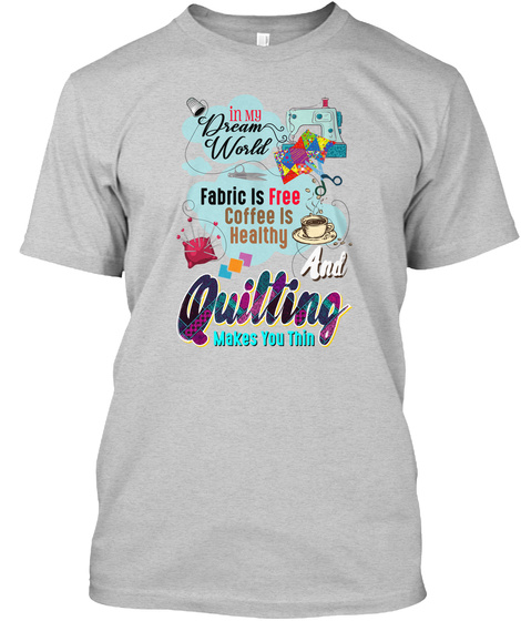 Quilting Light Steel T-Shirt Front